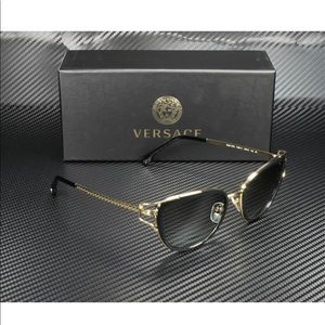 Versace sunglasses black and gold frame